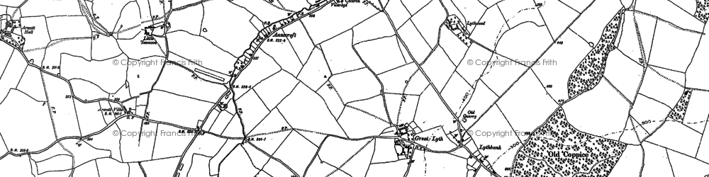 Old map of Arscott Villa in 1881