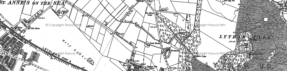 Old map of Ansdell in 1891