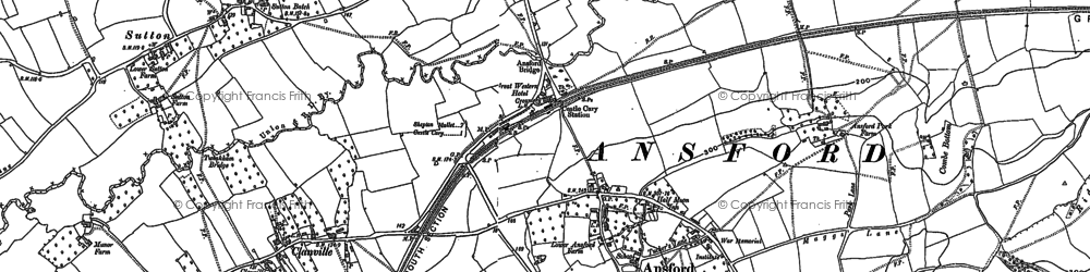 Old map of Ansford in 1885