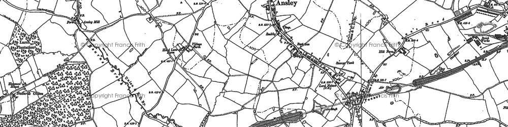 Old map of Ansley in 1901