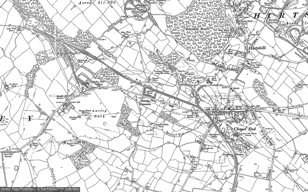 Map of Ansley Common, 1901 - 1902
