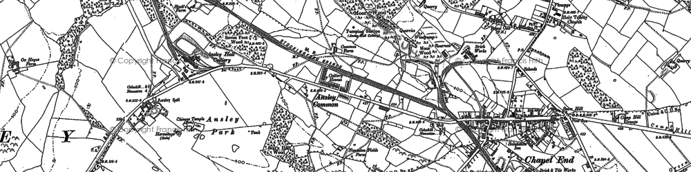Old map of Ansley Common in 1901