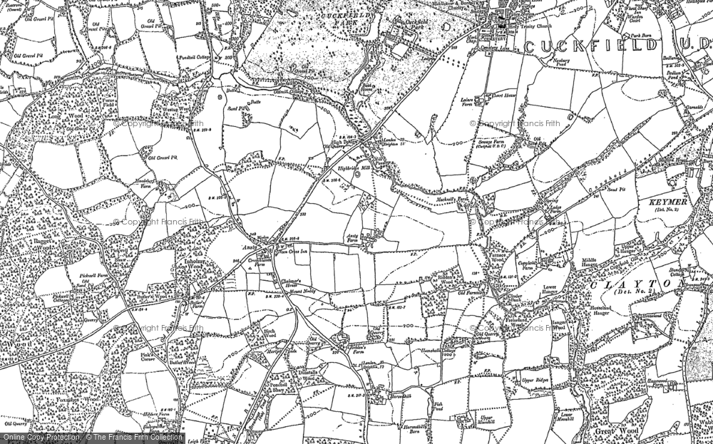 Old Map of Historic Map covering Legh Manor in 1896
