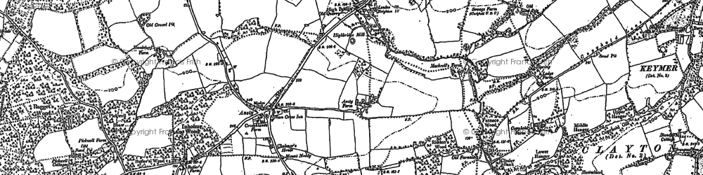 Old map of West Riddens in 1896