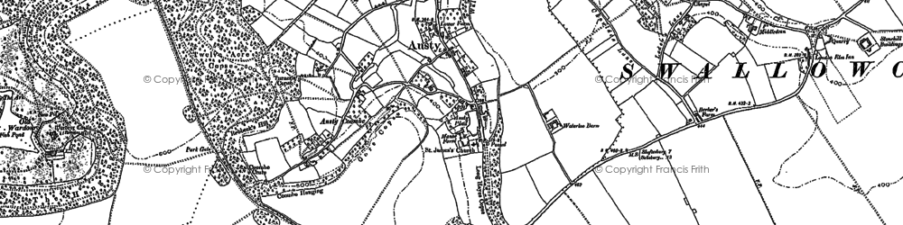 Old map of Ansty in 1900