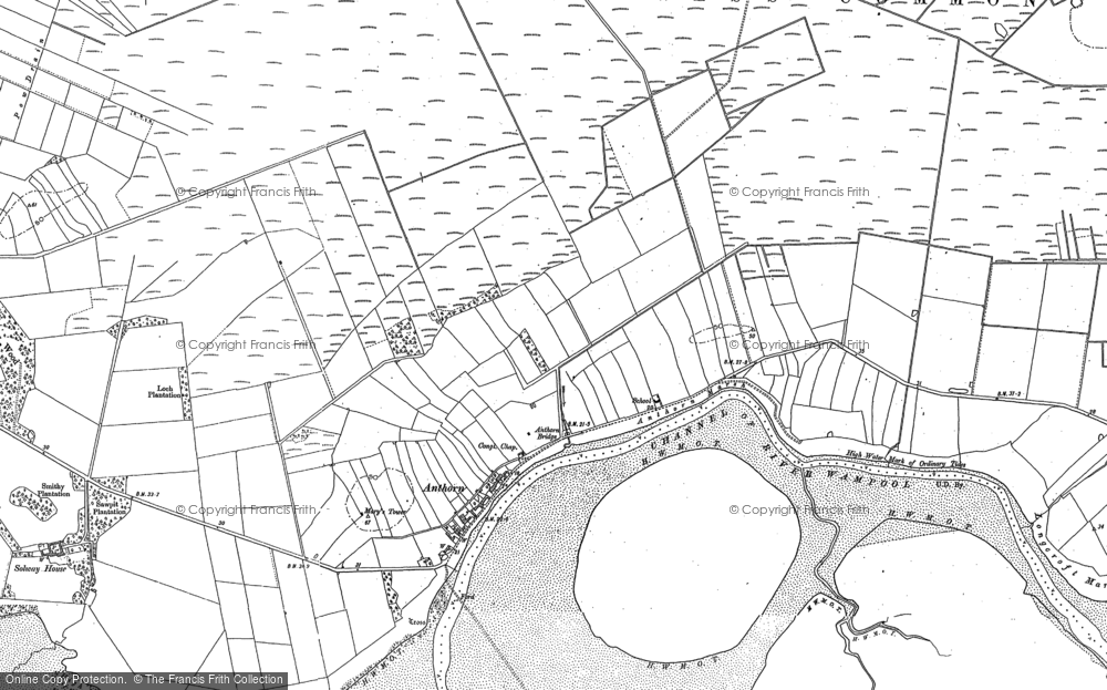 Map of Anthorn, 1899 - 1924