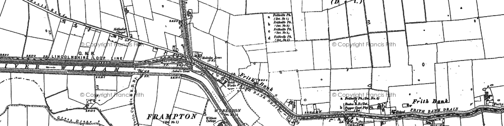 Old map of Anton's Gowt in 1887