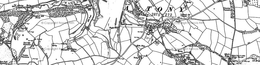Old map of Antony in 1883