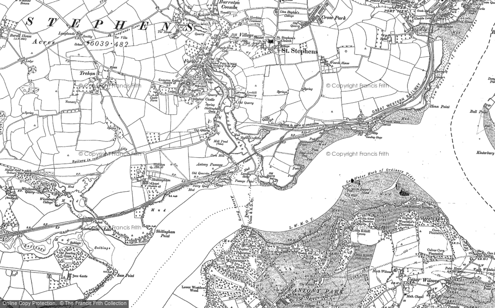 Old Map of Antony Passage, 1883 - 1905 in 1883