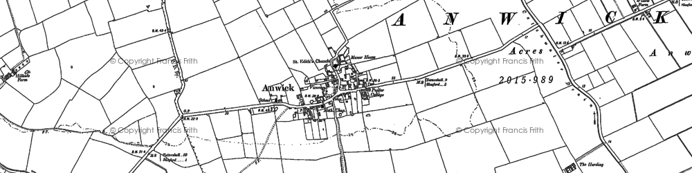 Old map of Anwick in 1887