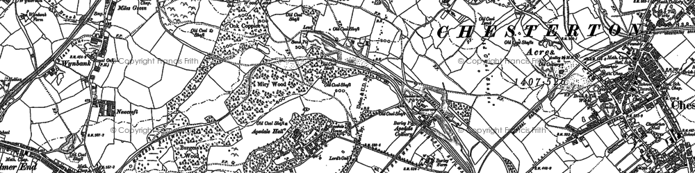 Old map of Apedale in 1898