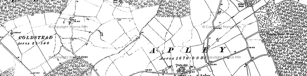 Old map of Apley in 1886