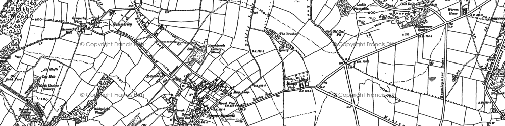 Old map of Apperknowle in 1876