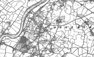 Old Map of Apperley, 1883