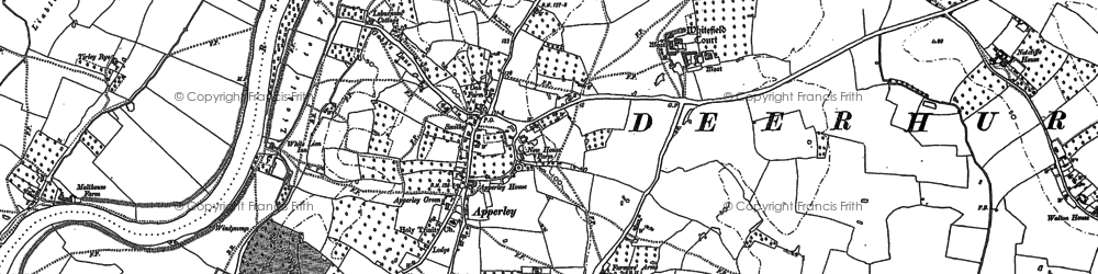 Old map of Wightfield Manor in 1883