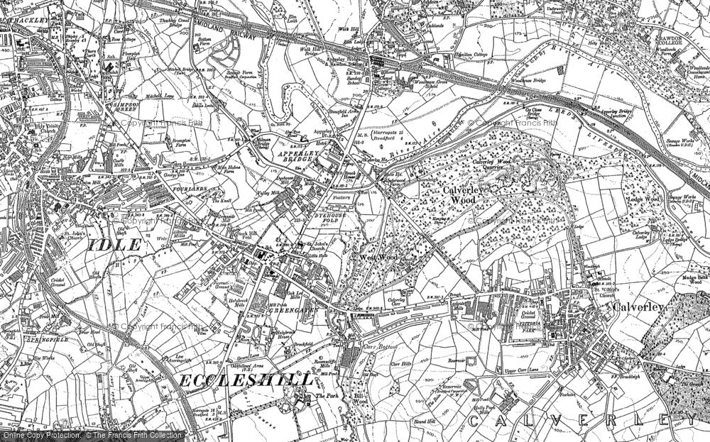 Old Map of Apperley Bridge, 1891 - 1892 in 1891