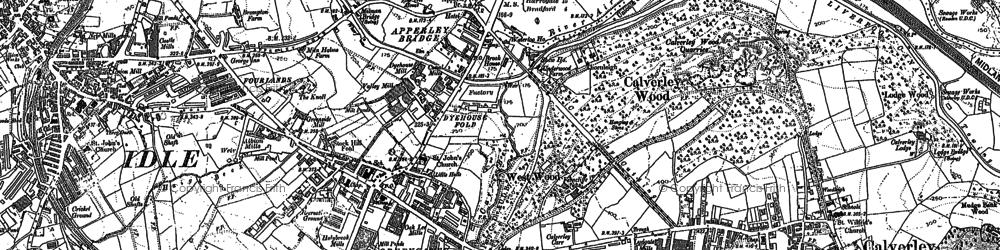 Old map of Apperley Bridge in 1891