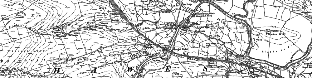 Old map of Backsides in 1910