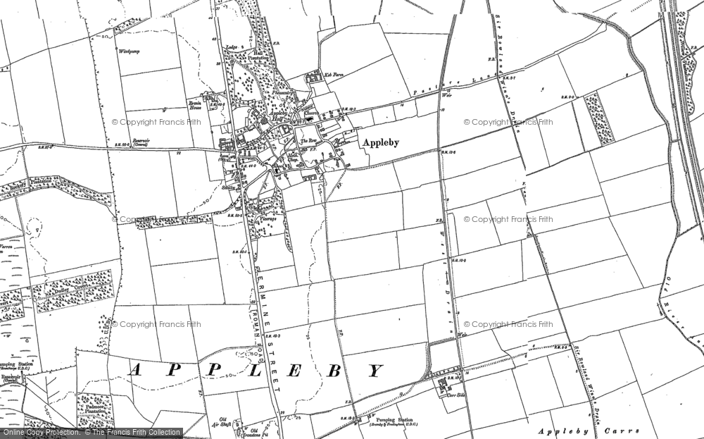 Old Map of Appleby, 1885 - 1886 in 1885