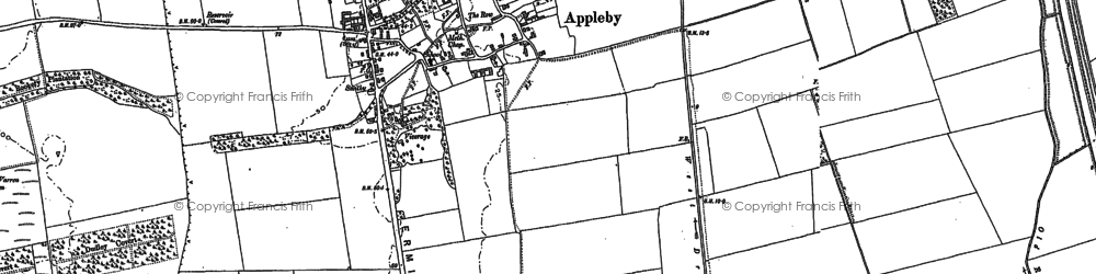 Old map of Appleby in 1885