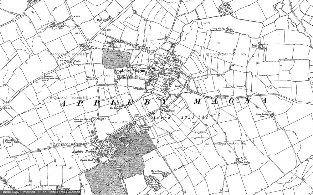 Old Map of Appleby Magna, 1882 - 1901 in 1882