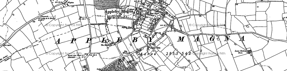 Old map of Appleby Parva in 1882