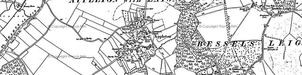 Old map of Appleton in 1911