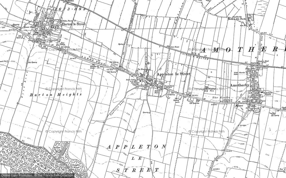 Old Map of Appleton-le-Street, 1889 - 1890 in 1889