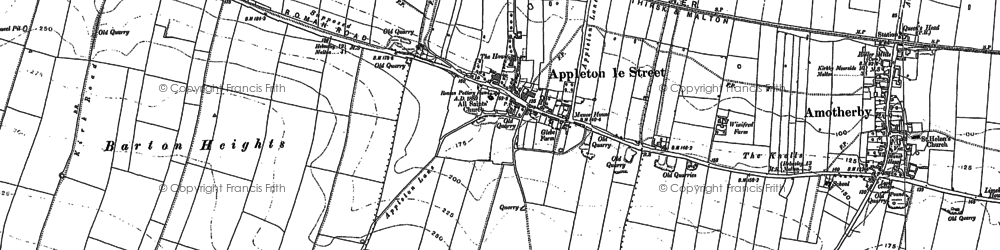 Old map of Appleton-le-Street in 1889