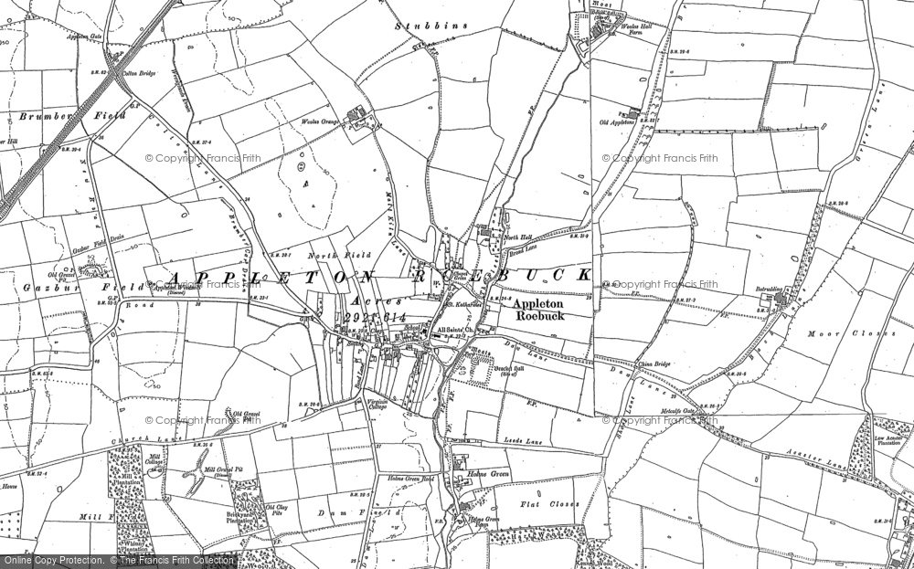 Old Map of Historic Map covering Woolas Grange in 1890
