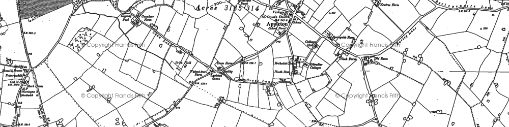 Old map of Wrights Green in 1897