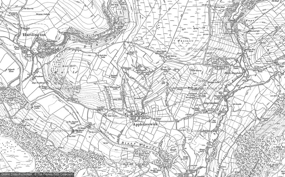 Map of Appletreewick, 1907