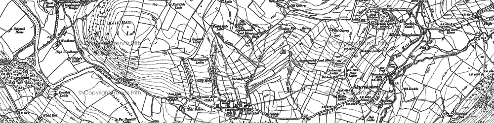 Old map of Appletreewick in 1907