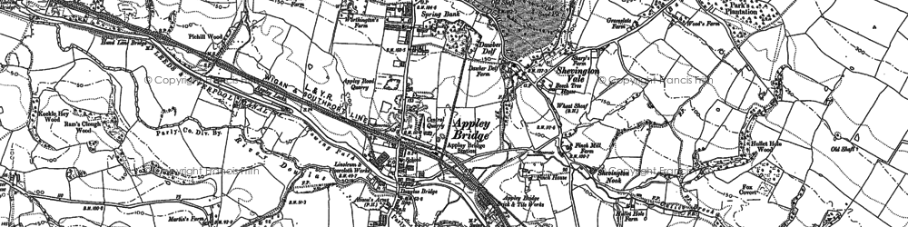Old map of Appley Bridge in 1892