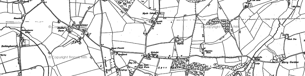 Old map of Apse Heath in 1896