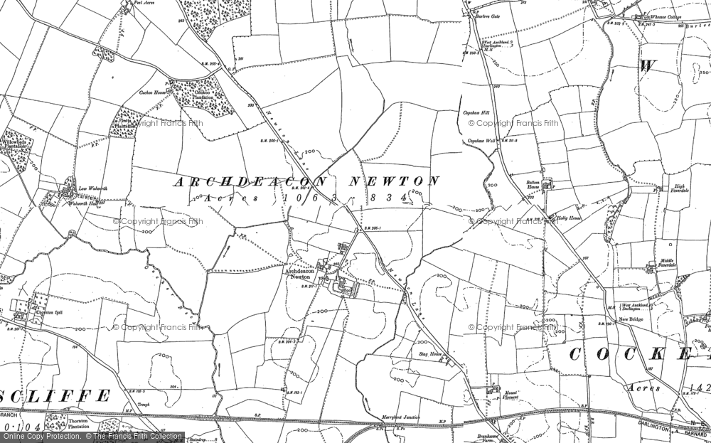 Old Map of Archdeacon Newton, 1896 - 1913 in 1896