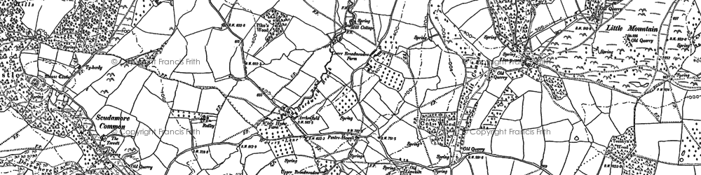 Old map of Archenfield in 1903