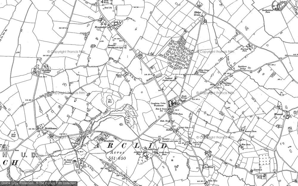 Old Map of Arclid, 1897 in 1897