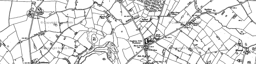 Old map of Arclid in 1897