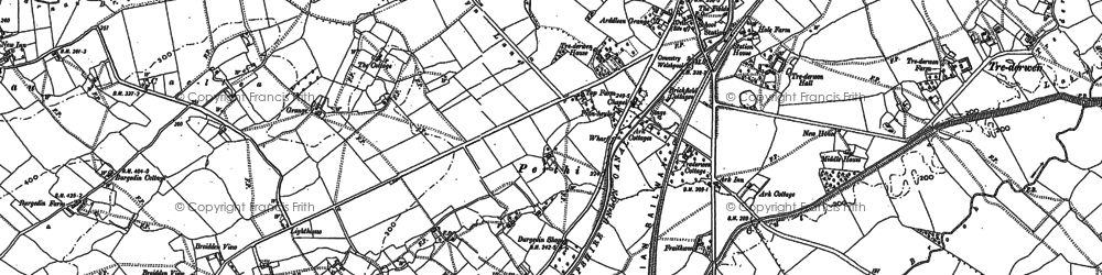 Old map of Arddleen in 1884