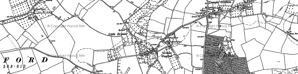 Old map of Ardens Grafton in 1883