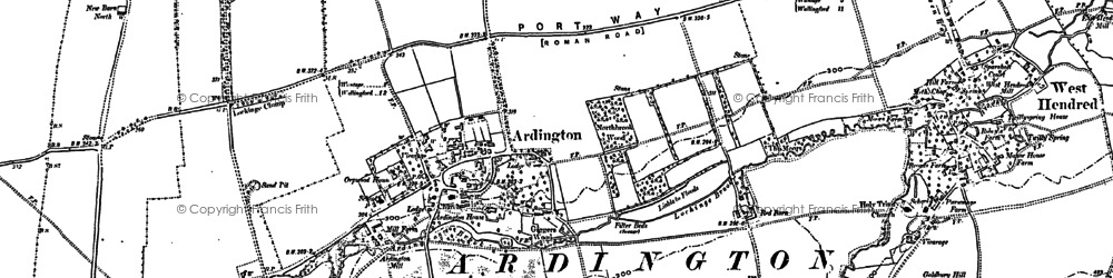 Old map of Ardington Ho in 1898