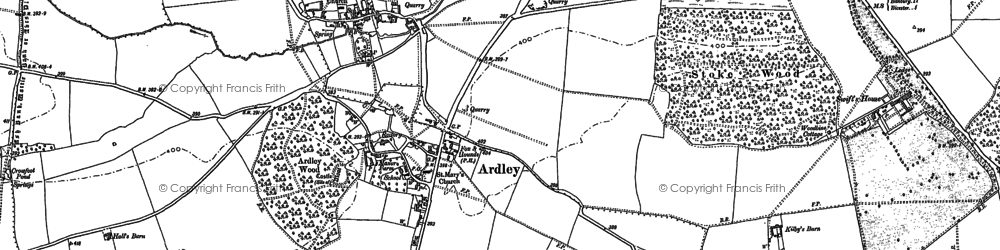 Old map of Ardley in 1898