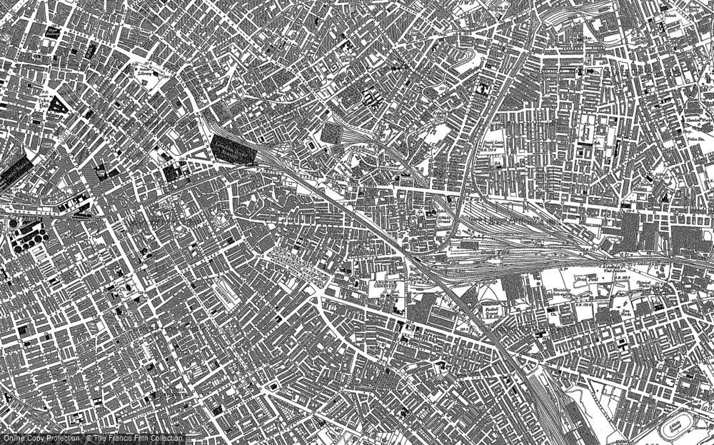 Map of Ardwick, 1889 - 1894