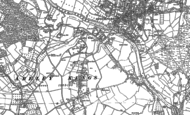 Old Map of Areley Kings, 1883