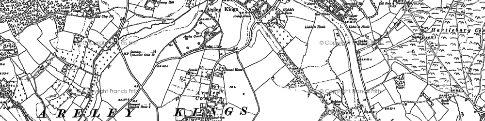 Old map of Astley Cross in 1883