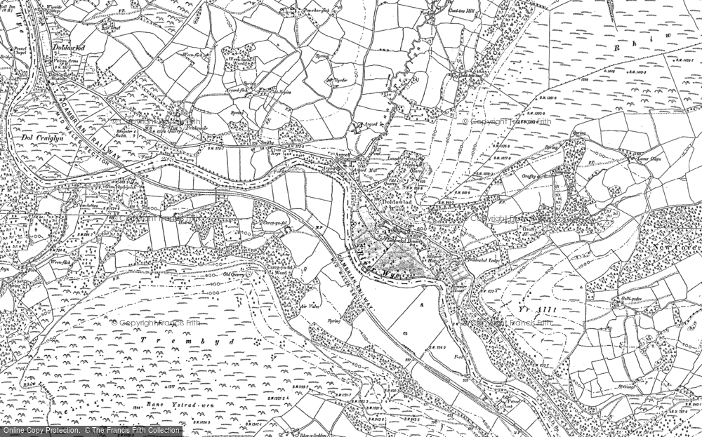 Old Map of Argoed, 1902 in 1902