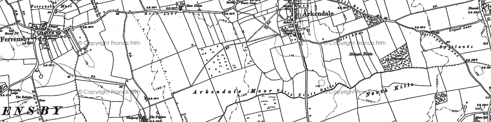 Old map of Arkendale in 1892