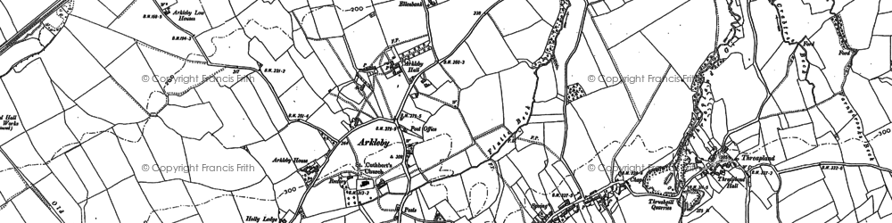 Old map of Arkleby in 1899
