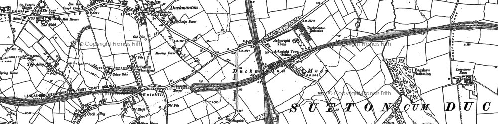 Old map of Arkwright Town in 1876
